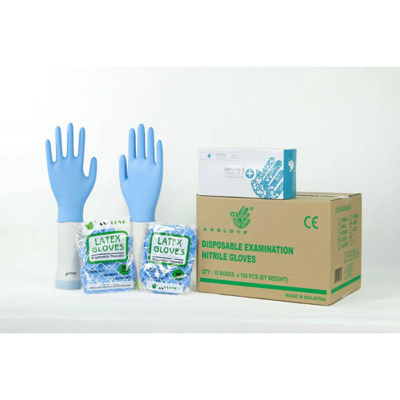 Axglove NITRILE EXAMINATION GLOVES, POWDER FREE