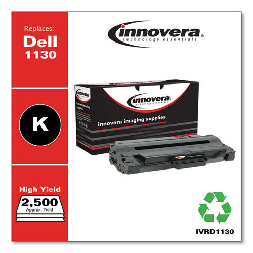 Remanufactured Black Toner, Replacement for Dell 1130 (330-9523), 2,500 Page-Yield