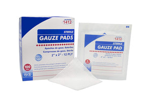 GAUZE SPONGE 2X2IN 12PLY 100% WOVEN COTTON NONSTERILE