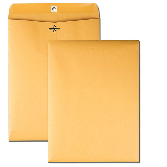Quality Park 9 x 12 Clasp Envelopes with Deeply Gummed Flaps, 100 per Box