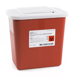 Sharps Container McKesson Prevent® 10-1/4 H X 7 W X 10-1/2 D Inch 2 Gallon Red 20/CS