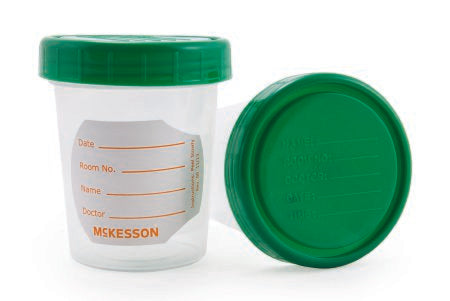 Specimen Container Polypropylene 120 mL (4 oz.) Screw Cap NonSterile