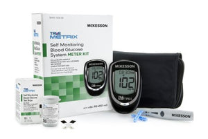 Blood Glucose Meter McKesson TRUE METRIX® 4 Second Results Stores Up To 500 Results with Date and Time Auto Coding