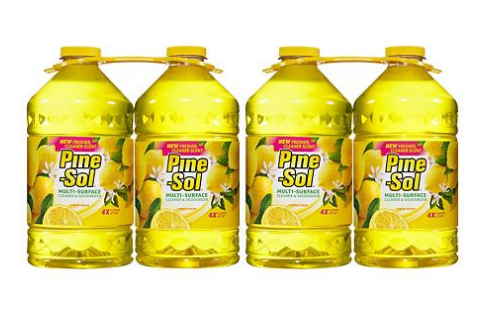 Pine-Sol Multi-Surface Cleaner, Lemon Scent (100 oz., 4 pk.)