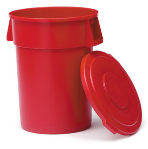 WASTE CONTAINER, 32 GALLON RED