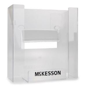Glove Box Holder McKesson Horizontal or Vertical Mounted 3-Box Capacity Clear 3-1/8 X 10-1/4 X 15-1/4 Inch Plastic