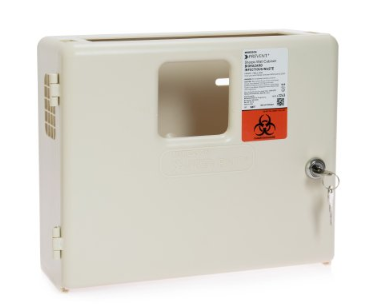 McKesson Prevent® Sharps Collector Wall Cabinet Locking Wall Mount Polypropylene