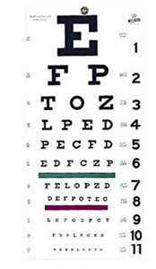 Eye Test Chart Snellen 20 Grafco 22X11″ – 1 Each