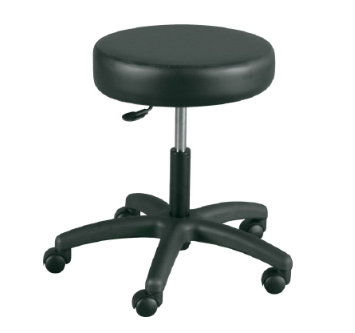 Exam Stool Backless Gas Lift Height Adjustment 5 Casters Black-Each