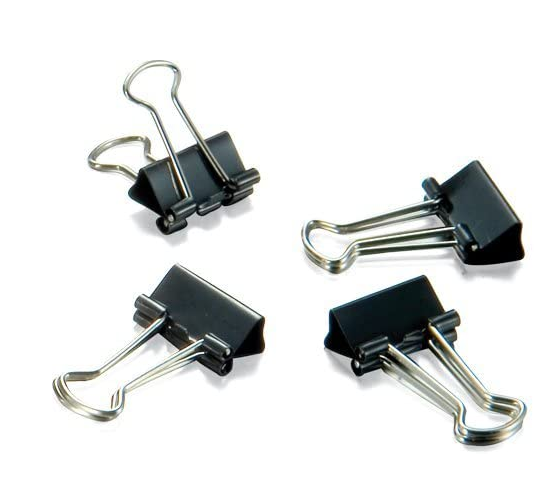 Officemate Micro Size Binder Clips, Black, 100 per Tub