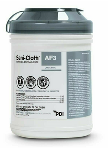 Sani-Cloth Germicidal Wipes AF3, Canister of 160