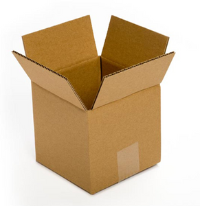 "Recycled Corrugated Cardboard Box, 6"" Length x 6"" Width x 6"" Height, Kraft"