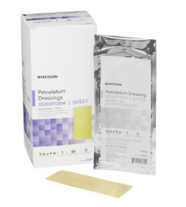 Xeroform Petrolatum Dressing McKesson 5 X 9 Inch Gauze Bismuth Tribromophenate Sterile-50/BOX