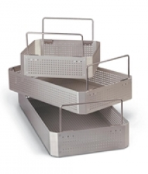 Perforated Aluminum Tray, 1/2 Size, 9.5