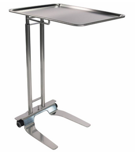 "Pedigo SS Foot-Operated Mayo Stand With 20"" x 25"" Tray"