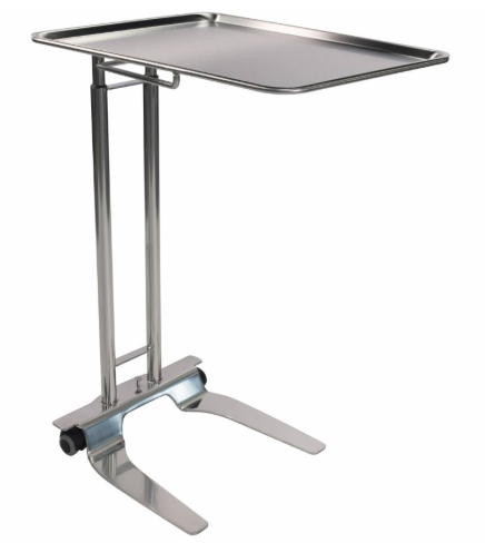 Pedigo SS Foot-Operated Mayo Stand With 20