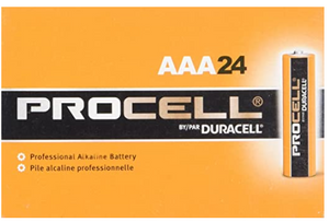 Procell Alkaline Battery, AAA (Pack of 24)