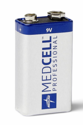 MedCell Alkaline Battery, 9V-12/Box