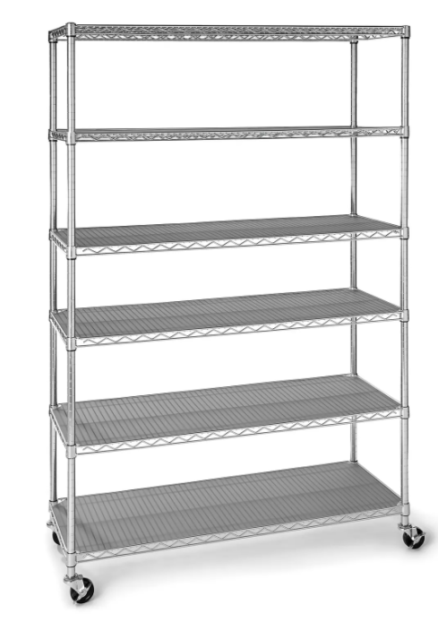 6-Tier NSF Steel Wire Shelving, 47.5