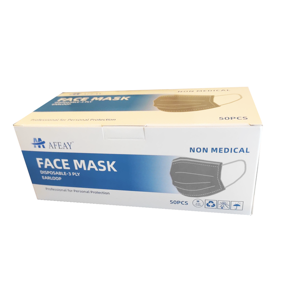 Disposable Face Masks 50/Bx (Non-Surgical)