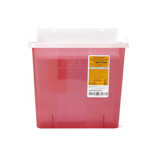Biohazard Patient Room Sharps Disposal Containers 5qt