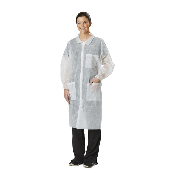 Disposable Spunbond Lab Coats 30/CS