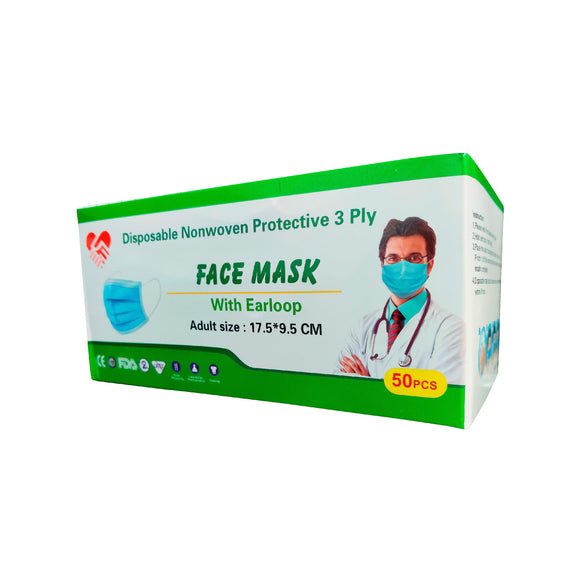 Disposable Nonwoven Protective Face Masks 3Ply
