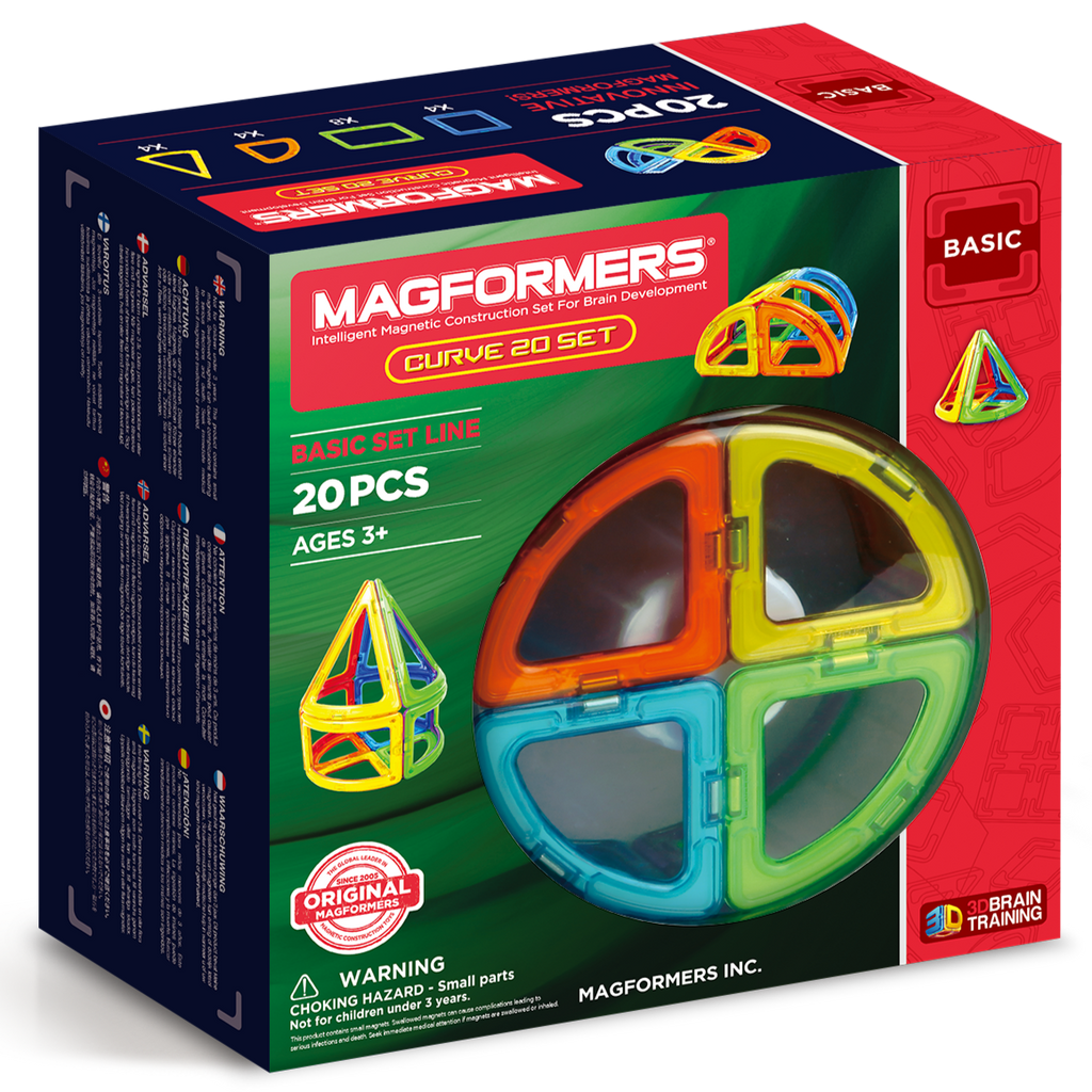 Magformers Curved Set (20 Pieces)