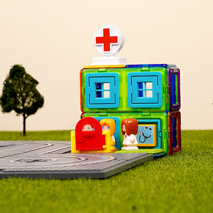 Magformers Hospital Set (22 Pieces)