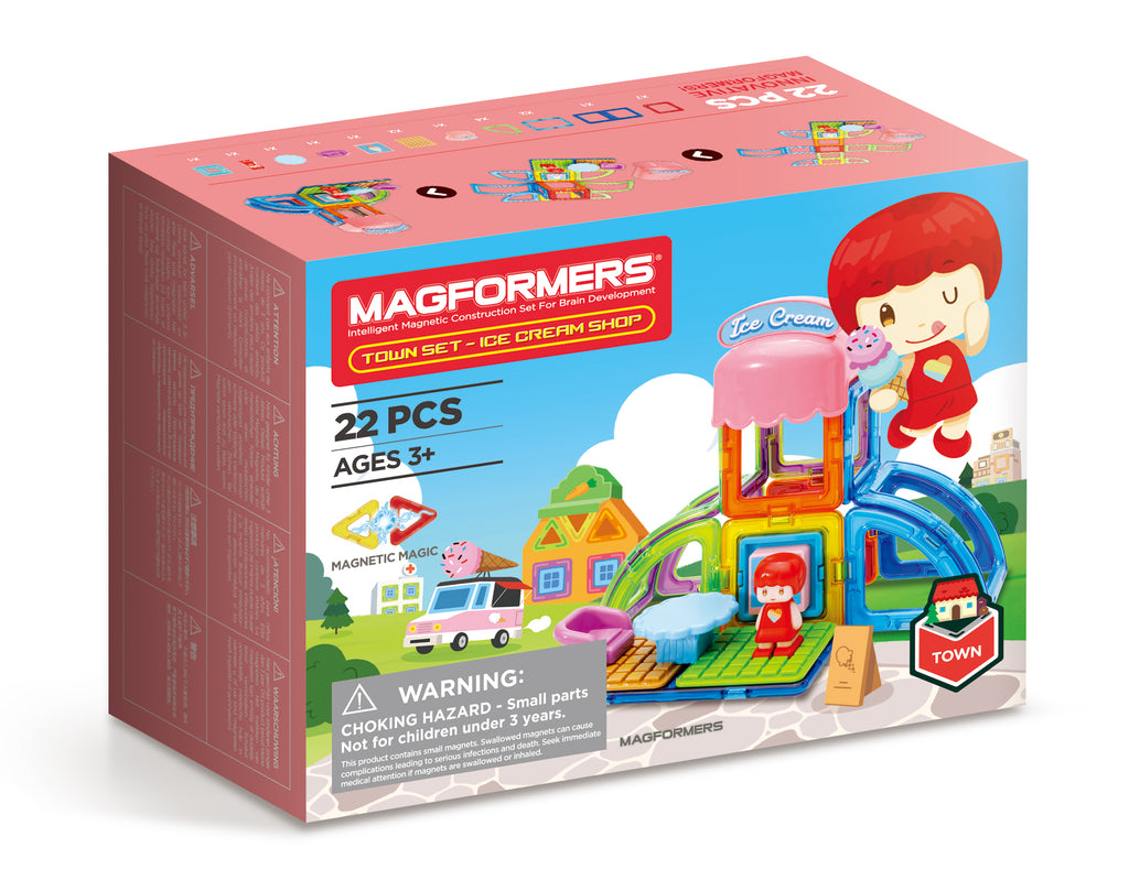 Magformers UK Town Series Ice Cream Cafe Shop