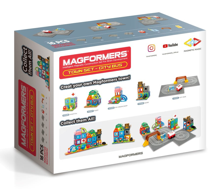 Magformers City Bus Track Set (16 Pieces)