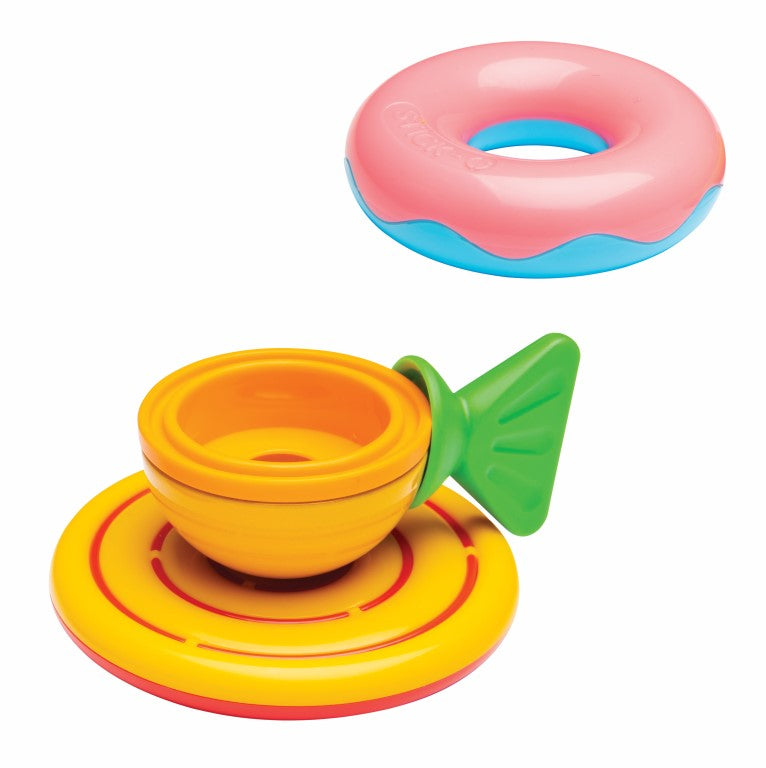 Sticko magnetic toy teacup and donut doughnut Stick-O