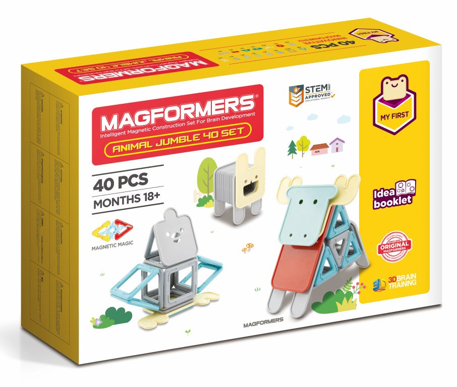Magformers Animal Jumble 40-piece Set (18months+)