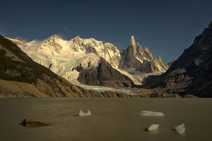 Cerro Torre in the moon light