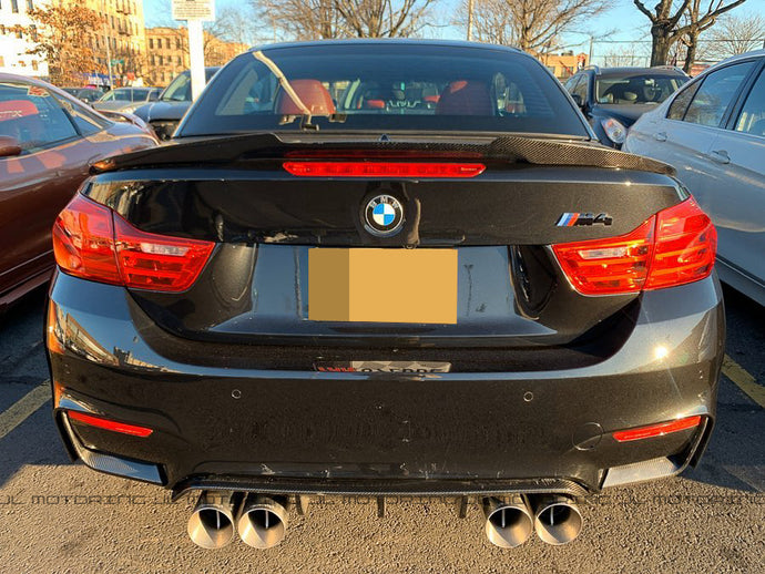 BMW F33 F83 M4 Convertible M Style Carbon Fiber Trunk Spoiler