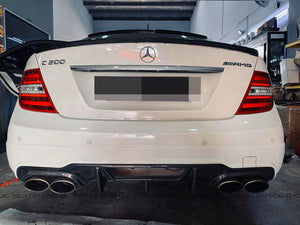 Mercedes Benz W204 C63 2012+ Carbon Fiber Rear Diffuser