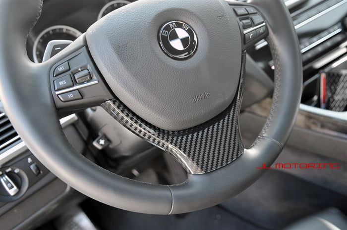 BMW F10 F11 F12 F13 Carbon Fiber Steering Wheel Trim