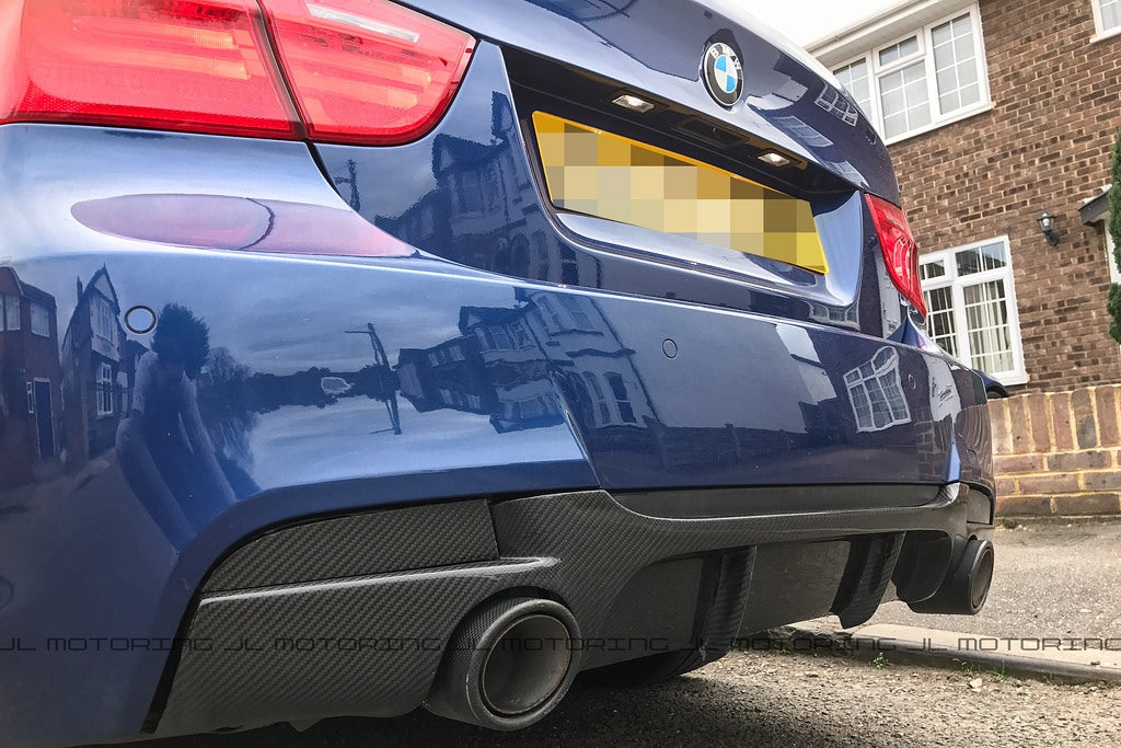 BMW E90 3 Series M Sport Performance Style Carbon Fiber Rear Diffuser