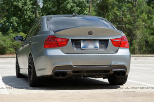 BMW E90 3 Series M Tech Carbon Fiber Rear Diffuser - 3D Style