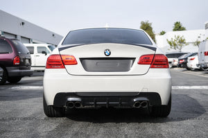 BMW E92 3 Series M Tech DTM Carbon Fiber Rear Diffuser - Quad