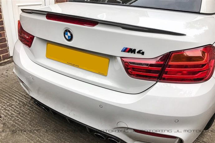 BMW F33 F83 M4 Convertible Performance Style Carbon Fiber Trunk Spoiler