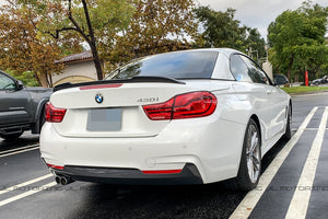 BMW F33 F83 M4 Convertible CS Style Carbon Fiber Trunk Spoiler