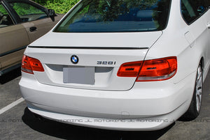BMW E92 3 Series Coupe M3 Style Carbon Fiber Trunk Spoiler