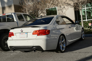 BMW E92 3 Series Coupe Performance Style Carbon Fiber Trunk Spoiler