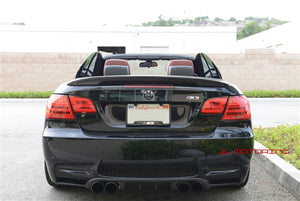 BMW E93 3 Series Convertible Performance Style Carbon Fiber Trunk Spoiler