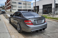 Load image into Gallery viewer, Mercedes Benz W204 Carbon Fiber Rear Bumper Extensions