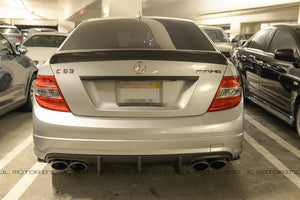Mercedes Benz W204 C63 Big Fins Carbon Fiber Rear Diffuser