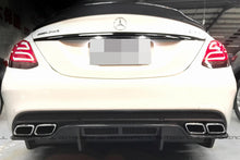 Load image into Gallery viewer, Mercedes Benz W205 C63 C63S AMG GTX Carbon Fiber Rear Diffuser