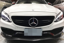 Load image into Gallery viewer, Mercedes Benz W205 C63 C63S AMG GT Carbon Fiber Front Lip