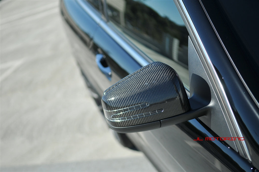 Mercedes Benz W204 C Class Carbon Fiber Full Replacement Mirrors